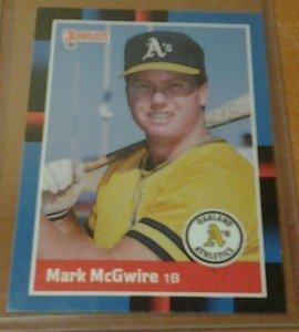 MARK MCGWIRE Athletics 1988 Donruss card