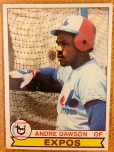 ANDRE DAWSON Montreal Expos 1979 Topps card Cubs Hawk
