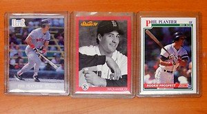 3 cards one-time Red Sox phenom PHIL PLANTIER rookie cards Padres
