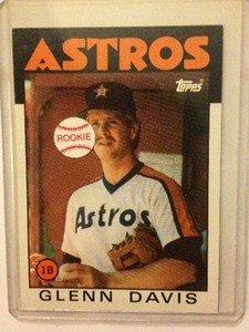 GLENN DAVIS Houston Astros 1986 Topps rookie card