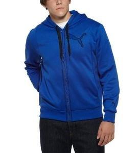 NWT PUMA blue Poly hooded fleece hoodie mens XL Reg $60