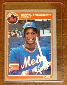 DARRYL STRAWBERRY New York Mets 1985 Fleer card