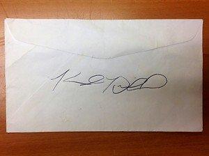 KYLE DRABEK Toronto Blue Jays autographed signed envelope