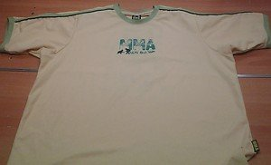 MMA FIGHT DIVISION Brazil colors short sleeve shirt mens XL UFC MMA jiu jitsu