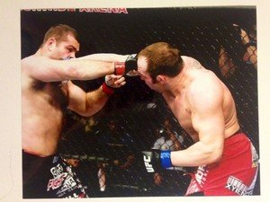 UFC MMA SHANE CARWIN smashes Gonzaga 8x10 photo