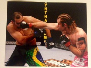 "UFC MMA ALAN ""The Talent"" BELCHER 8x10 photo"