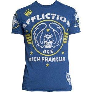 "NWT AFFLICTION Rich ""Ace"" Franklin signature tee shirt navy mens XL UFC MMA"