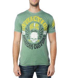NWT AFFLICTION Liberty tee shirt green mens XL