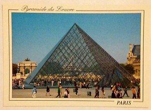 NEW UNUSED post card from Paris Pyramid