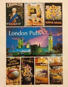 NEW UNUSED post card from London Pubs