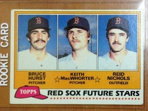 BRUCE HURST Red Sox 1981 Topps rookie card