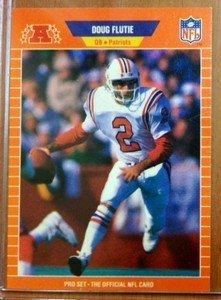 DOUG FLUTIE Patriots 1989 Pro Set card