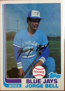 JORGE GEORGE BELL Blue Jays 1982 Topps rookie card