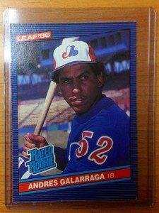 ANDRES GALARRAGA Expos Rockies 1986 Leaf rookie card