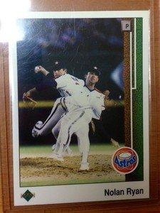 NOLAN RYAN Astros Rangers 1989 Upper Deck card 3D
