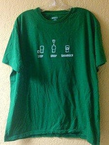 Bailey's St. Patrick's Day green drinking tee shirt mens XL