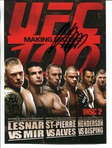 UFC MMA Champ GEORGES ST-PIERRE GSP autographed signed 5x7 UFC 100 DVD promo