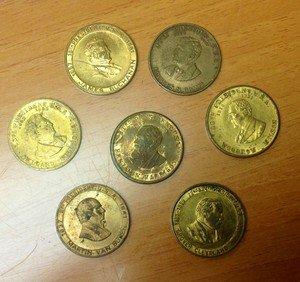 Lot of 7 PRESIDENTIAL Coins Medals Grant Cleveland Wilson Van Buren Fillmore +2