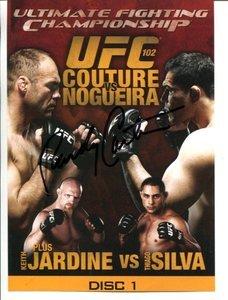 UFC MMA Legend RANDY COUTURE autographed signed 5x7 UFC 102 DVD promo