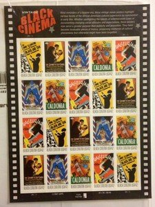 Vintage Black Cinema stamp sheet $8.40 face value Sport of the Gods Caldonia