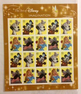 DISNEY Imagination stamp sheet $8.40 face value Mickey Mouse 101 Dalmations