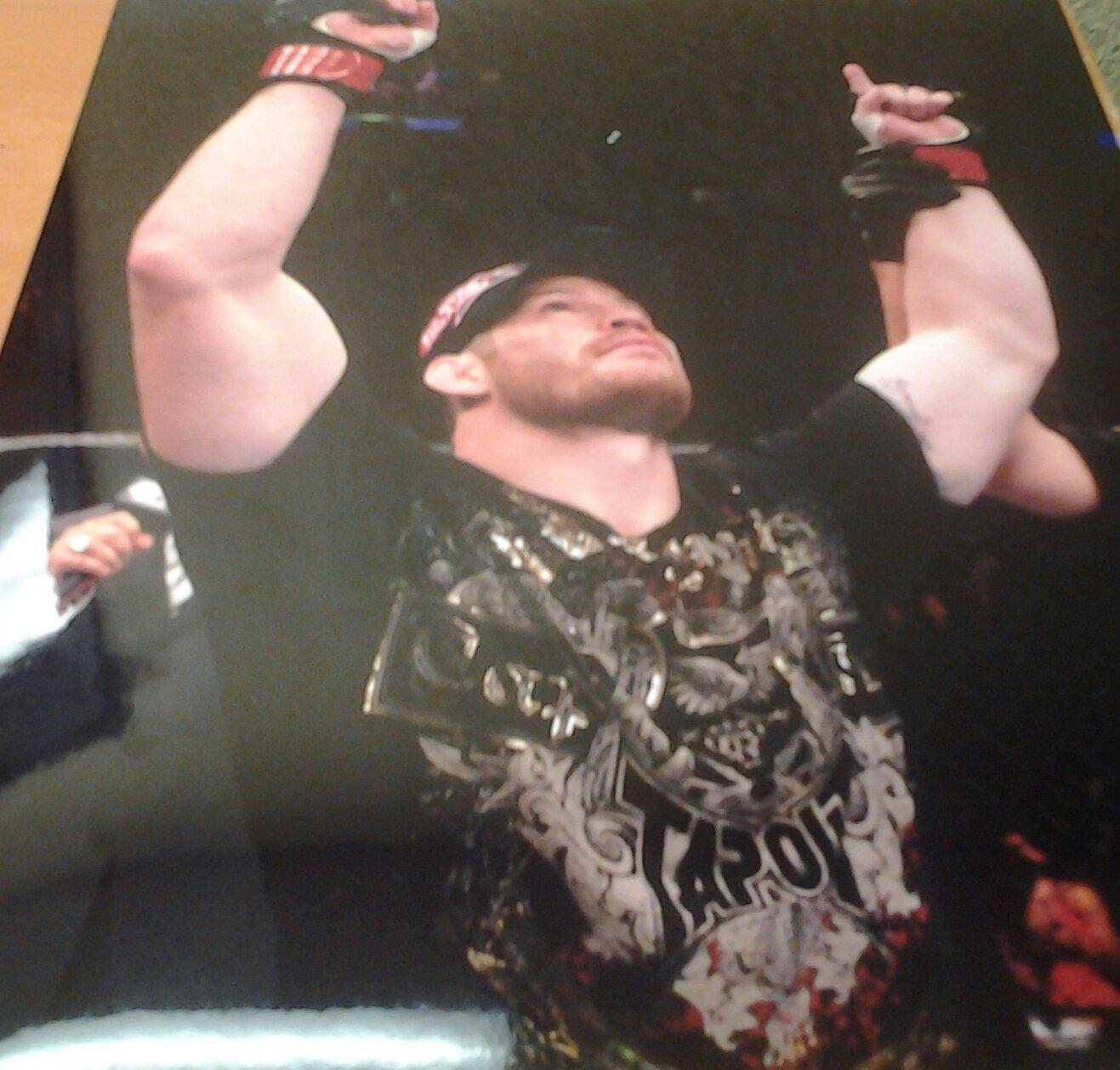 UFC MMA NATE MARQUARDT wins 8x10 photo