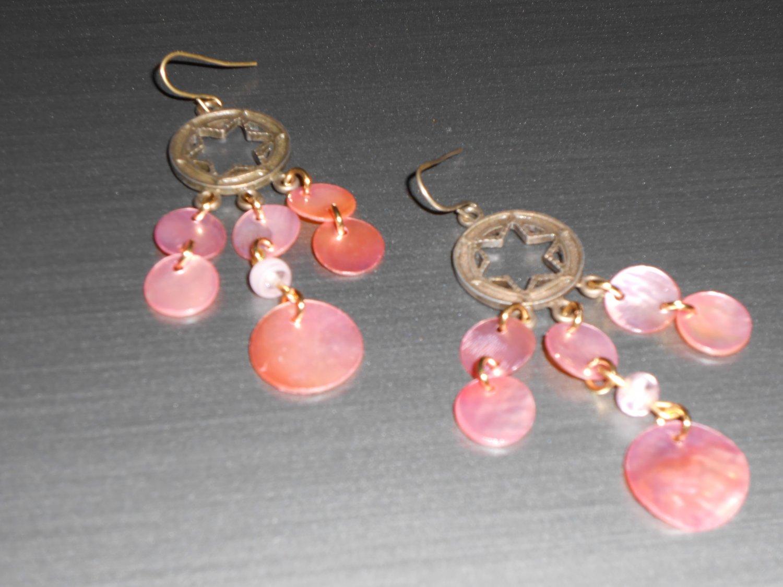 Pretty in Pink Chandelier Earrings