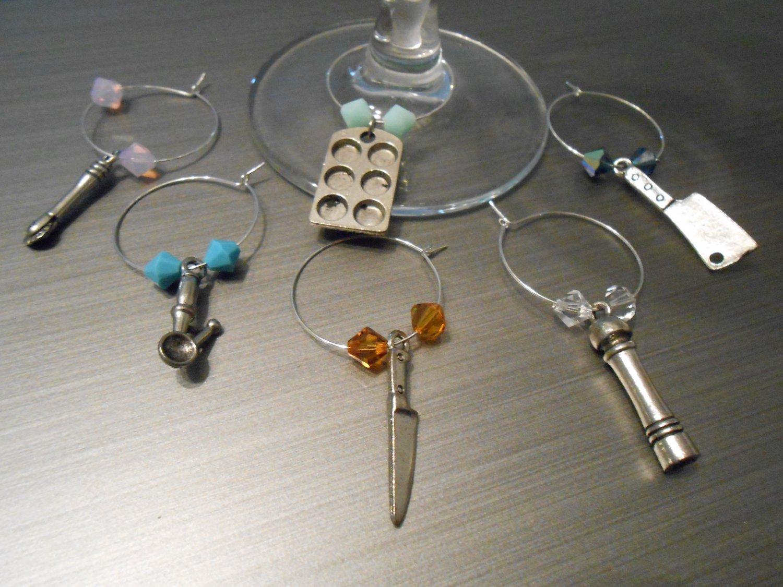 Kitchen Wine Glass Charms