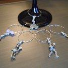 Tennis Wine Glass Charm Set