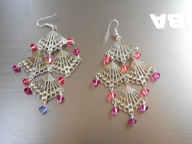 Fan Chandelier Earrings