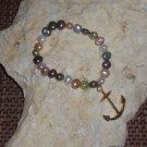 Gold Anchor Charm Bracelet