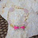 bow tie charm bracelet