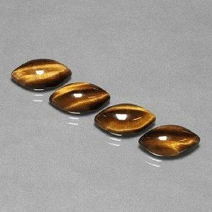 Certified Lot of 25 Pieces AAA Quality Tiger Eye 6x12 m.m. Marquise Cabochon