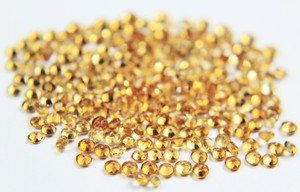 Certified AAA Quality 15 Pieces Natural Citrine Faceted 7 MM Round Loose Gemstones