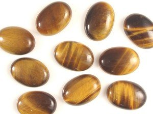 Certified  Lot of 25 Pieces AAA Quality Natural Yellow Tiger Eye 15x20 mm Oval Cabochon
