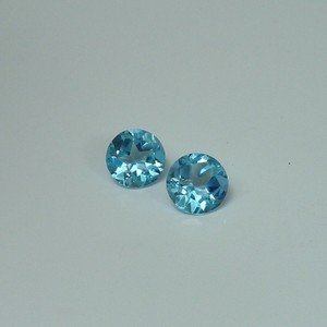 Certified Lot of 25 Pieces AAA Quality Sky Blue Topaz 5 M.M.Round Narmal Cut Calibarated