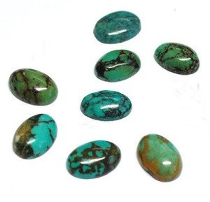 Certified Lot of 10 Pieces AAA Quality Turquoise 10x12 M.M. Oval Cabochon Calibarated