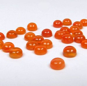 Certified Lot of 25 Pieces Carnelian Gemstones 3 M.M. Round Loose Cabochons Calibrated