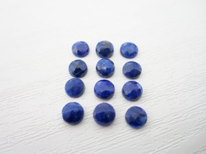 Certified Lot of 20 Pieces AAA  Lapis 12*12 M.M. Round Loose Rose Cut Calibarated