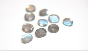 Certified  Lot Of 10 Pieces Labradorite Faceted 8x10 M.M. Oval Loose Calibrated