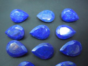 Certified Lot of 25 Pieces AAA Quality Lapis Lazuli 7x9 M.M. Pear Normal Cut