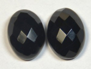 Certified Lot of 25 Pieces AAA Quality Black Onyx 10x14 m.m. Oval Checker cut