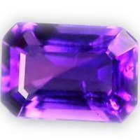 Cartified AAA Quality 25 Pieces Natural Amethyst 6x8 mm Octagon Loose Faceted Gemstones
