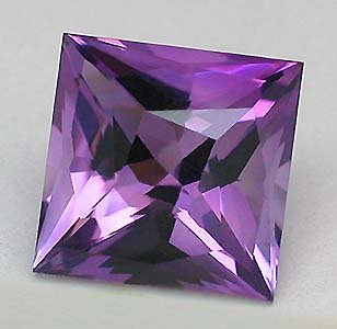 Cartified AAA Quality 25 Pieces Natural Amethyst 8 mm Square Loose Faceted Gemstones