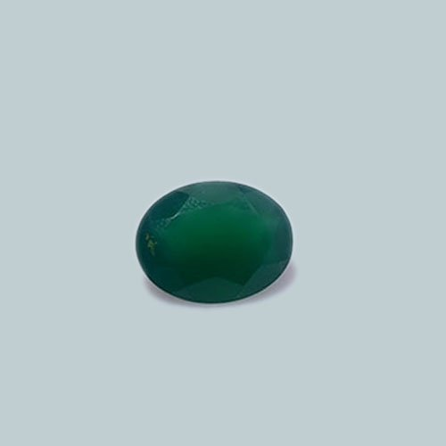 Certified Natural Green Onyx AAA Quality 18x13 mm Faceted Oval 1 pc
