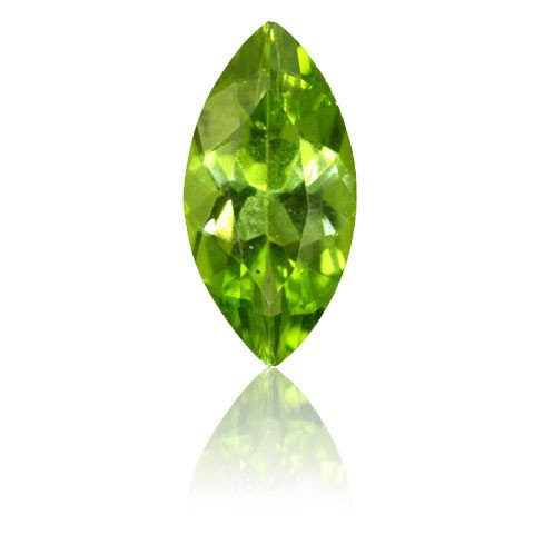 Certified Natural Peridot AAA Quality 8x4 mm Faceted Marquise 1 pc