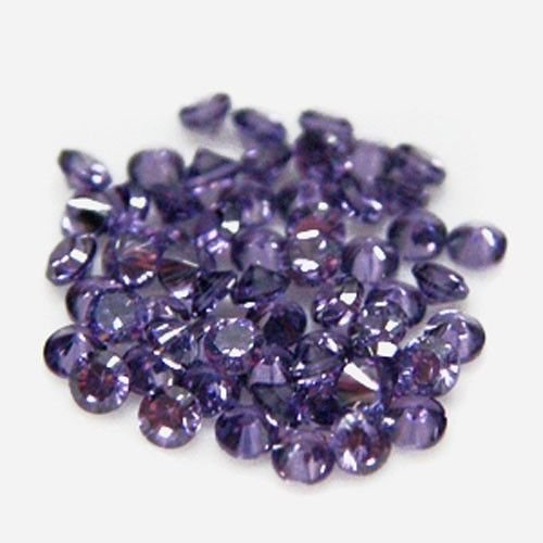 Certified Natural Amethyst AAA Quality 8 mm Faceted Round 25 pcs Lot