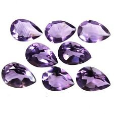 Certified Natural Amethyst AAA Quality 12x8 mm Faceted Pear 10 pcs Lot