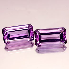 Certified Natural Amethyst AAA Quality 18x13 mm Faceted Octagon 2 pcs Pair