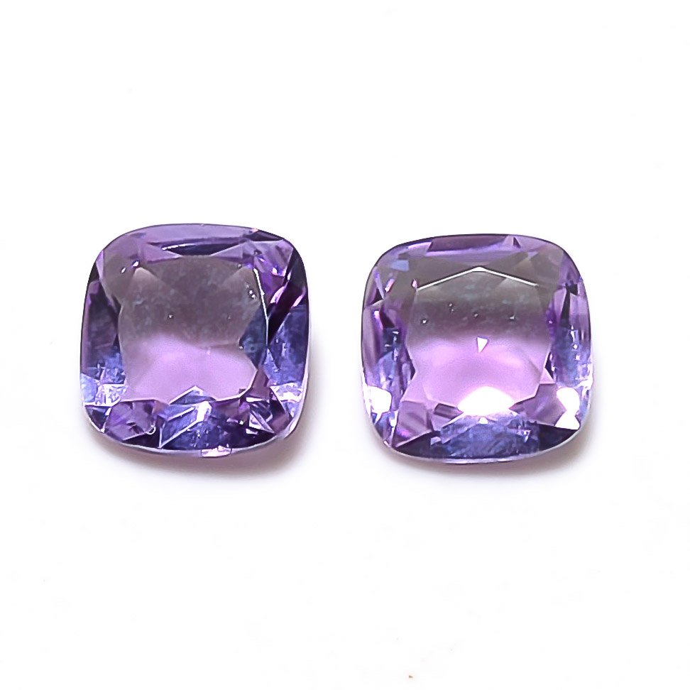 Certified Natural Amethyst AAA Quality 5 mm Faceted Cushion 5 pcs Lot